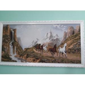 "Гобеленовая картина ""Вдоль реки"" (70х35)"