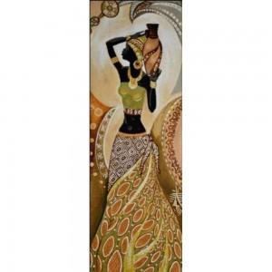 Гобеленовая картина Африканка с кувшином (35х100)