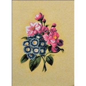 """Панно """"Бутоньерка (синие цветы)"""" (18х24)"""