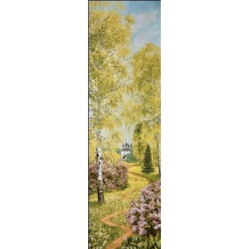 """Панно """"Весенний лес евро"""" (35х100)"""