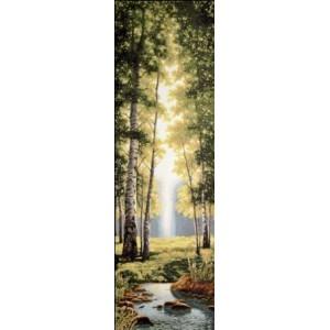 """Панно """"Зеленый лес"""" (35х108)"""