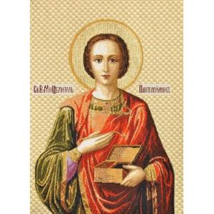 """Панно """"Икона Святой Пантелеймон"""" (35х25)"""