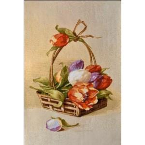 "Гобеленовое Панно ""Корзина тюльпанов 2"" (25х35)"