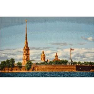 """Панно """"СПб Петропавловская крепость евро"""" (35х55)"""