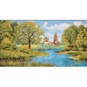"""Гобеленовое Панно """"Церковь Благовещения"""" (35х64)"""