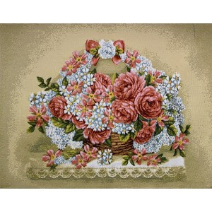 "Панно ""Праздничная корзина. Розы"" (47х35)"