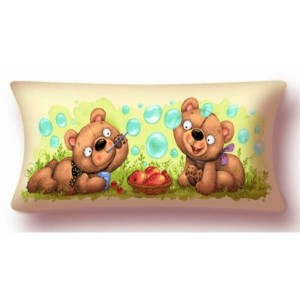 "Наволочка ""Баловни Два медвежонка"" (90х35)"