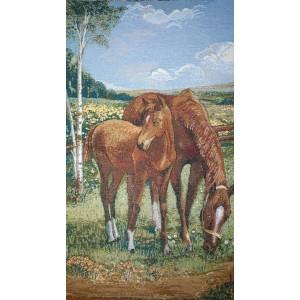 """Панно """"Лошади"""" (54х76)"""
