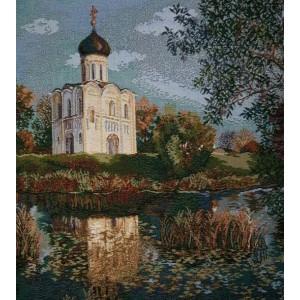 """Панно """"Церковь Покрова на Нерли"""" (54х54)"""