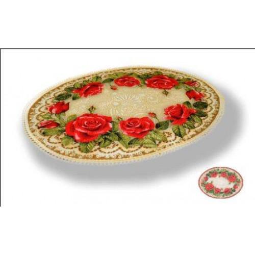 "Салфетка ""Букет роз (овал)"" (70х50)"