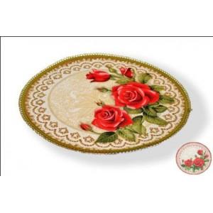 """Салфетка """"Букет роз (круг)"""" (50 см)"""
