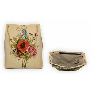 Сумка с люверсами (ткань Дачный букет мак)