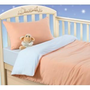 Ясельное постельное белье «Персиковое облако», Трикотаж