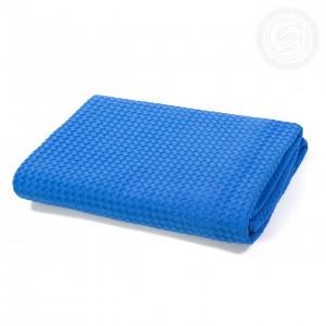Полотенце вафельное банное Синее пк.70.140