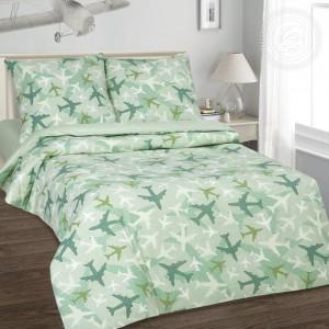 Постельное белье Самолетики зеленые 912