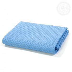 Полотенце вафельное банное Голубое пк.70.140