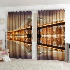 Фотошторы Великолепный ночной мост