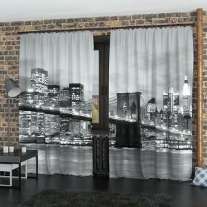 Фотошторы Бруклинский мост черно-белый