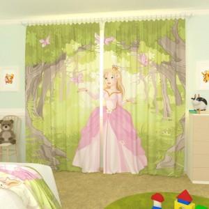 Детские фотошторы Принцесса и бабочки