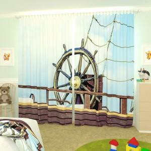 Детские фотошторы Штурвал корабля
