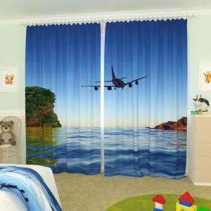 Детские фотошторы Самолет 1