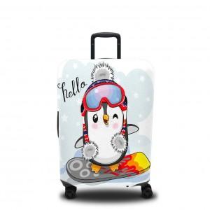 Чехол для чемодана Пингвин на сноуборде