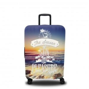 Чехол для чемодана Ночное море 2
