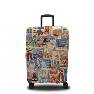 Чехол для чемодана Стикеры
