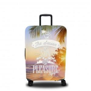 Чехол для чемодана Тёплый закат на пляже 1