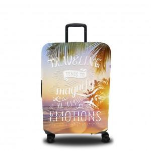 Чехол для чемодана Тёплый закат на пляже 2