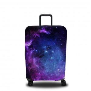 Чехол для чемодана Фиолетовое звёздное небо