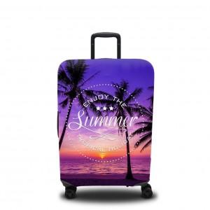 Чехол для чемодана Фиолетовый закат 1