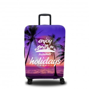 Чехол для чемодана Фиолетовый закат 2