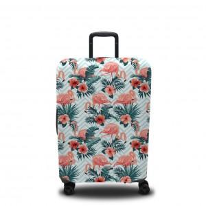 Чехол для чемодана Фламинго