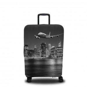 Чехол для чемодана Черно-белый Манхеттен 1