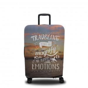 Чехол для чемодана Эмоции путешествий