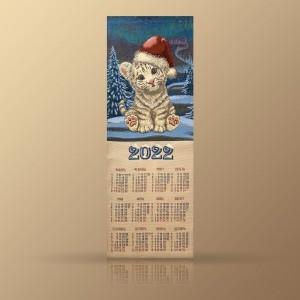 "Гобеленовый календарь ""2022 Тигренок В Шапочке"" (32х79)"