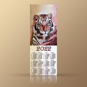 """Гобеленовый календарь """"2022 Тигр"""" (32х89)"""
