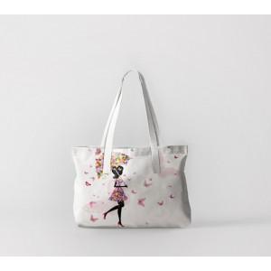 Сумка-шоппер Девушки с зонтом из бабочек