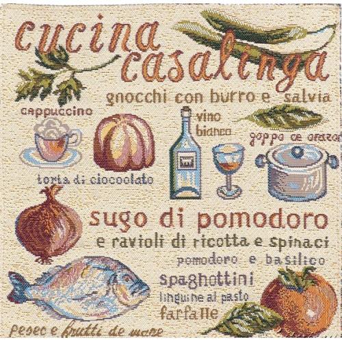 "Салфетка гобеленовая ""Итальянская кухня"" (32х32)"