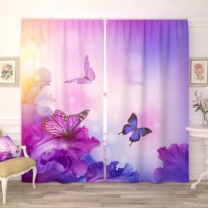 Фотошторы Фиолетовые бабочки