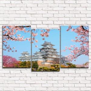 Модульная картина Японский замок 3-1