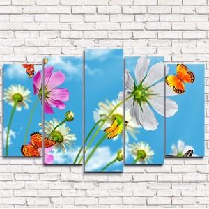 Модульная картина Утренние бабочки 5-1
