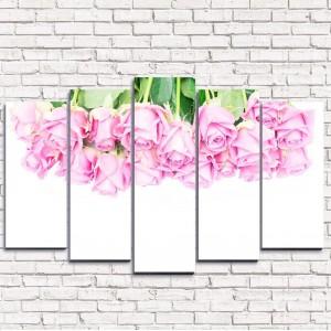 Модульная картина Розовый верх 5-1