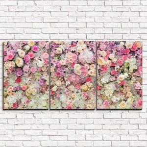 Модульная картина Цветочная россыпь 3-1