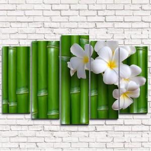 Модульная картина Цветы на бамбуке 5-1