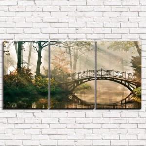 Модульная картина Туманный мост 3-1