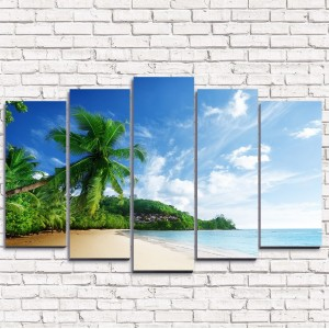 Модульная картина Солнечный пляж 5-1