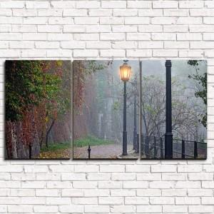 Модульная картина Утренняя прогулка 3-1