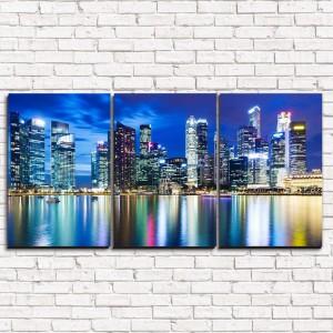 Модульная картина Река в Шанхае 3-1